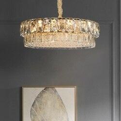 K9 kryształowy żyrandol do salonu LED nowe proste oświetlenie domu luksusowy hotel willa projektant kryształowy żyrandol