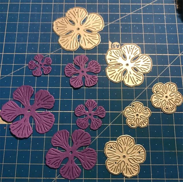 Matrices de découpe en métal cousu de fleurs | Nouveau pochoir de noël pour le bricolage, Scrapbooking, matrices artisanales découpées décor, 5 pièces