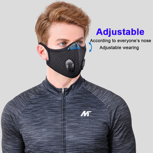 Sport Mask with Activated Carbon Filters adjust Dustproof Face Mask Outdoor Running Cycling Mask Reusable Mascarilla Ciclismo