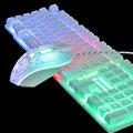 Клавиатура и мышь со светящимися радужными подсветками, для ПК, PS4, PS3, Xbox One