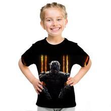 3D Print Children's T-Shirt  Battlefield 2 Video Game  pattern print children's t-shirt Men/Girls Tops Short Sleeve T-Shirt