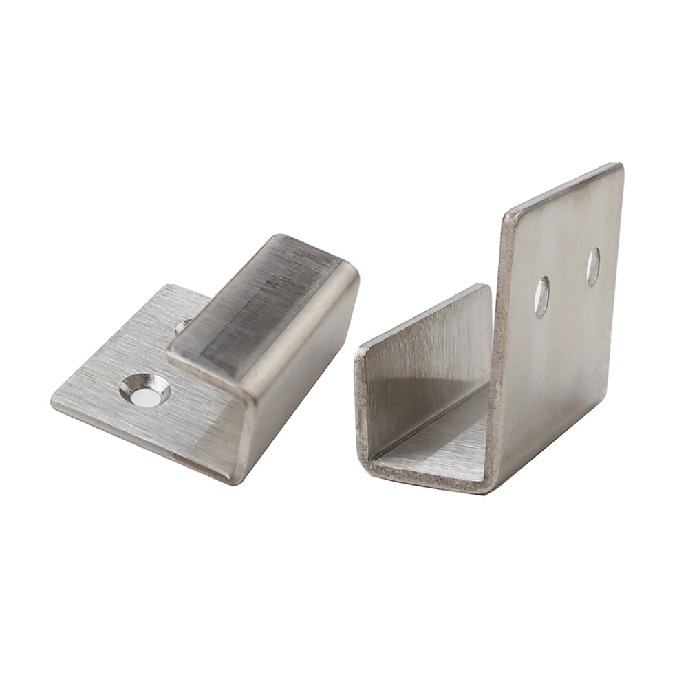 tiazza 2pcs brushed stainless steel picture frame fixing brackets hooks ceramic tile display hanging code u shaped hangers
