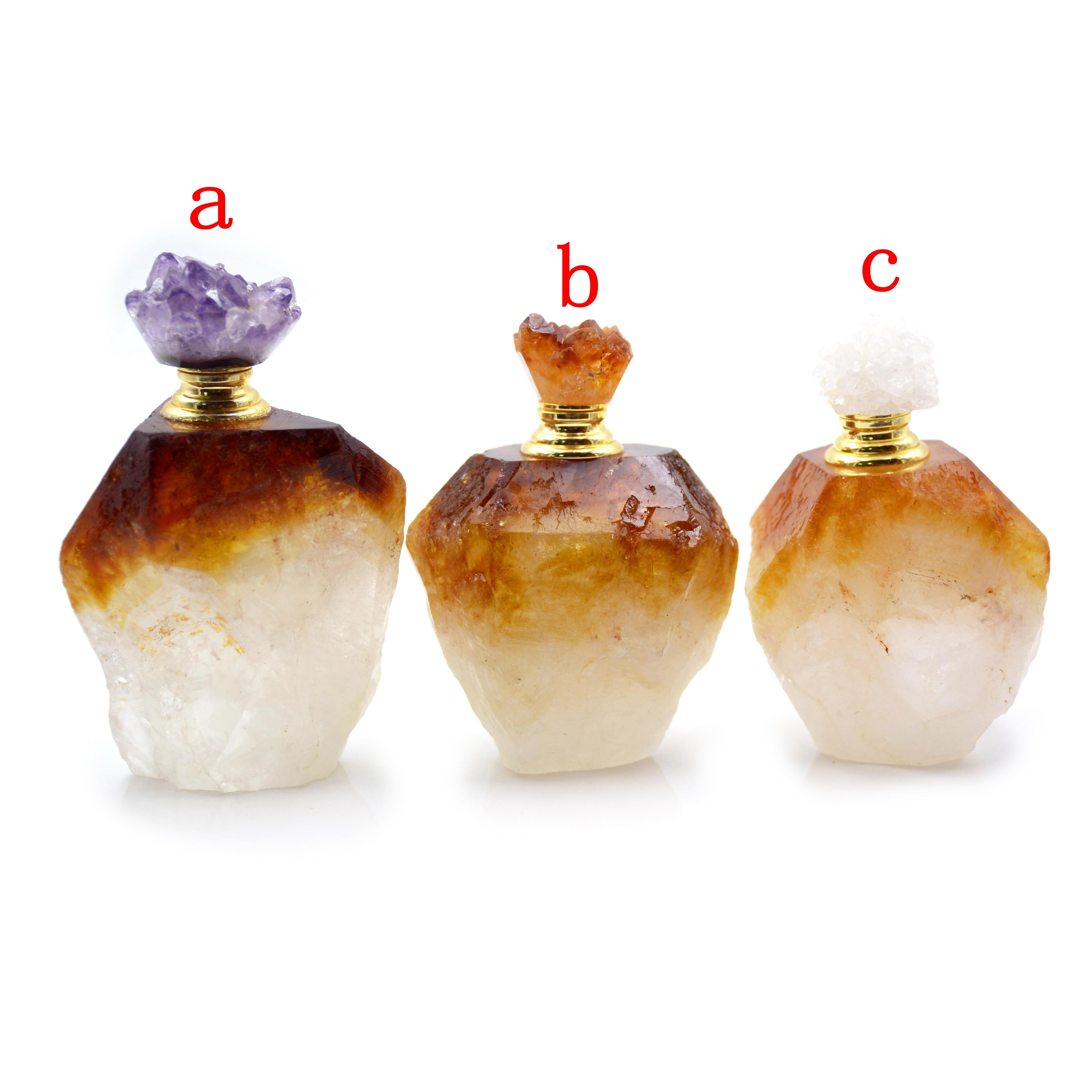 Gemmes naturelles pierre parfum huiles essentielles bouteille brute citrines diffuseur coiffeuse ameublement article chambre parfum décoration - 6