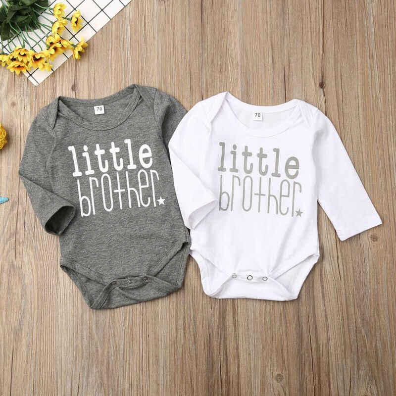 2019 ビッグ & 弟男の子子供 Tシャツ Tシャツマッチングセット子供たちの手紙ボディスーツ子供の夏の Tシャツ
