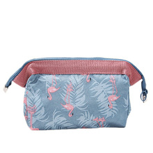 Flamingo Cosmetic Bag Women Necessaire Make Up Bags Travel Waterproof Portable Makeup Toiletry Kits Organizer Bag aosbos women lightweight waterproof makeup bags multifunctional travel cosmetic bags cases fashion portable wash toiletry bag