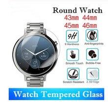 400 szt. Uniwersalny okrągły Smartwatch szkło hartowane o średnicy 43mm 44mm 45mm 46mm folia ochronna do ekranu