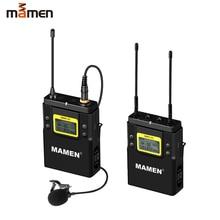 MAMEN WMIC 01 60m gamme Microphone à condensateur UHF double canal numérique système de Microphone sans fil un émetteur un récepteur