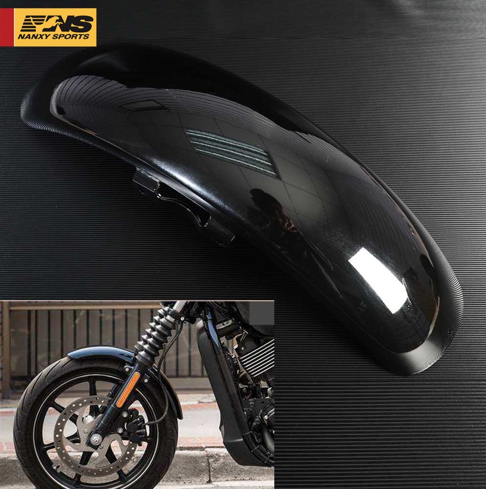 Gloss Black ABS Motorcycle Front Fender Mud Flaps Splash Guard Protector 19.