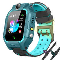 En este momento 2019 nuevo chico reloj inteligente LBS Smartwatches reloj de bebé para los niños buscador ubicación rastreador Anti perdido Monitor chico regalo + caja