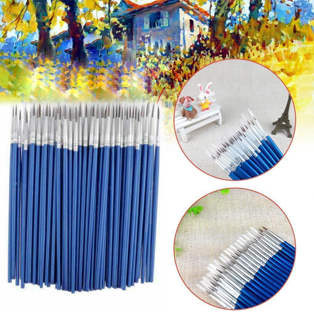 10pcs/set Painting Brushes Watercolor Gouache Stroke Painting Line Hook Pen Nylon Hair Tool Art Painting Supplies B6X3