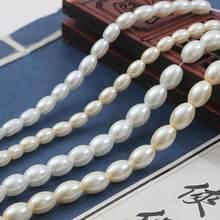90-120 Pçs/lote 80cm/Strand Marfim Branco Forma Oval De Vidro Imitação de Pérolas Beads para DIY Colar Pulseira Brinco Fazer Jóias