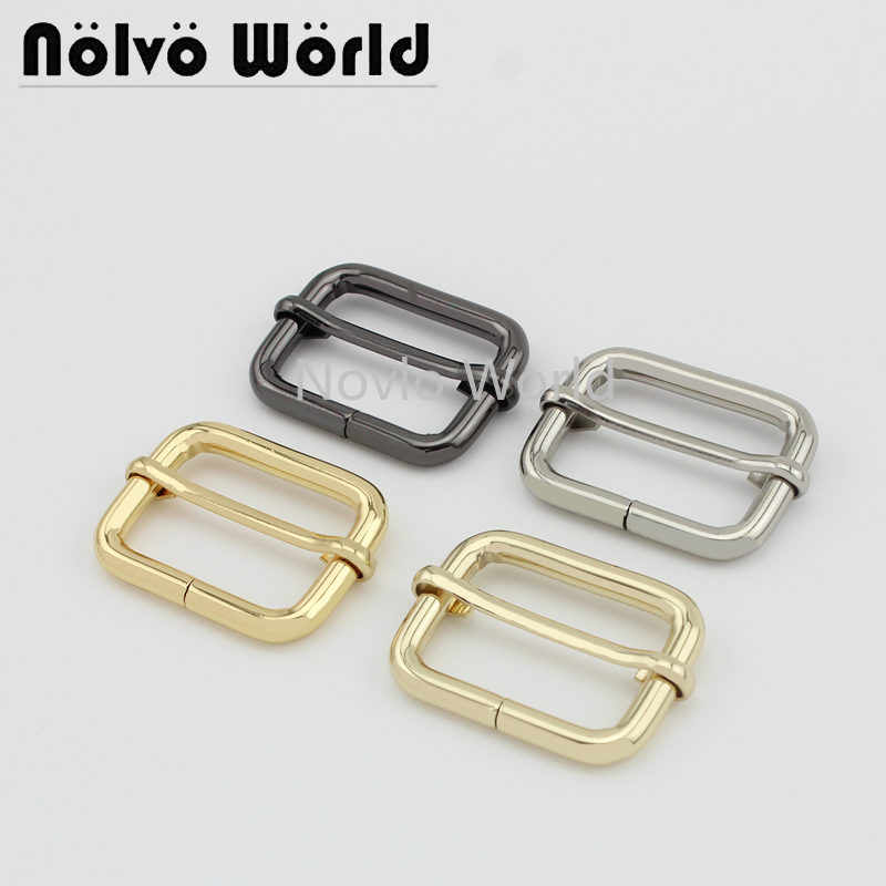 Wholesale 500pcs,inner Width 32*22mm 1-1/4 Inch,5 Colors Accept Mix Color, Metal Pin Buckle Handbags Adjusted Buckle Accessories