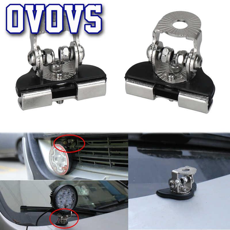 Soporte de luz de coche de acero inoxidable, 1 par, soporte de montaje de luz LED, soporte de motor, soporte de lámpara clips 4x4, abrazadera de instalación de luz todoterreno