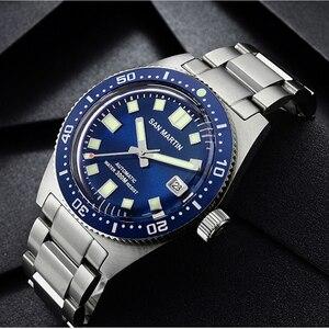 Новые механические Автоматические Мужские часы San Martin 62Mas Diver NH35 с керамическим циферблатом и сапфировым стеклом, часы из нержавеющей стали