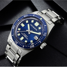 San Martin New 62Mas Diver Mechanical Automatic Men Watch NH35 Ceramic Bezel Sunray Dial Sapphire Glass Stainless Steel Watches