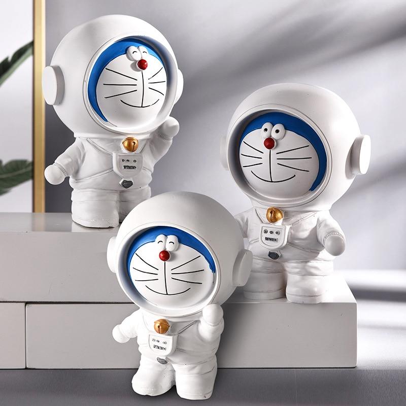 Alcancía de astronauta creativo para niños, regalo de cumpleaños, resina, adorno artesanal, caja de dinero
