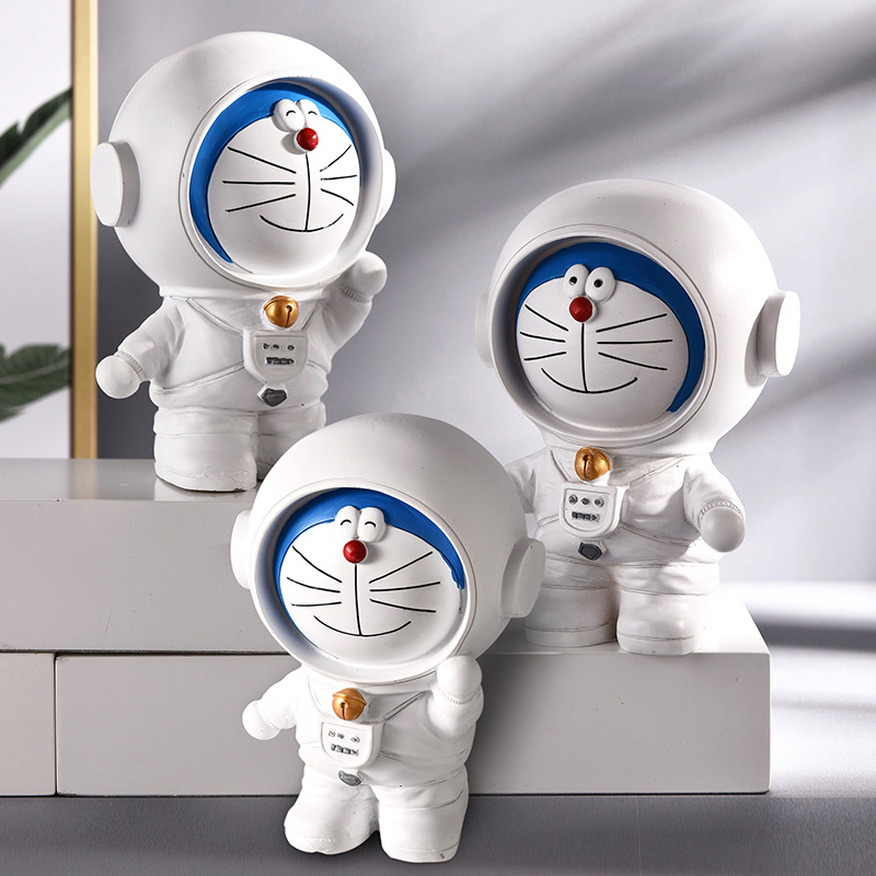 Astronauta criativo astronauta mealheiro mealheiro dar crianças presente de aniversário resina artesanato ornamento presente caixa de dinheiro