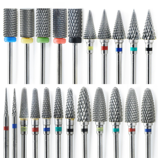 25 Tpye Nail Drill Bit for Manicure Diamond Milling Cutter Nail Files Electric Rotary Mills Nail Gel Remove Grinder Tools