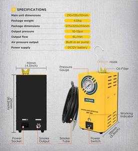 Image 4 - AUTOOL – détecteur de fuite de fumée Automobile SDT202, Original, générateur de fumée pour voiture