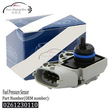 For Volvo S60 S80 V70 XC70 XC90 Fuel Pressure Sensor on Fuel Rail OEM 0-261-230-110 / 0 261 230 110 / 0261230110 new set 4 oem 30786968 pdc parking sensor reverse assist for volvo c30 c70 s60 s80 v70 xc70 xc90 30786968 30786320 30765703