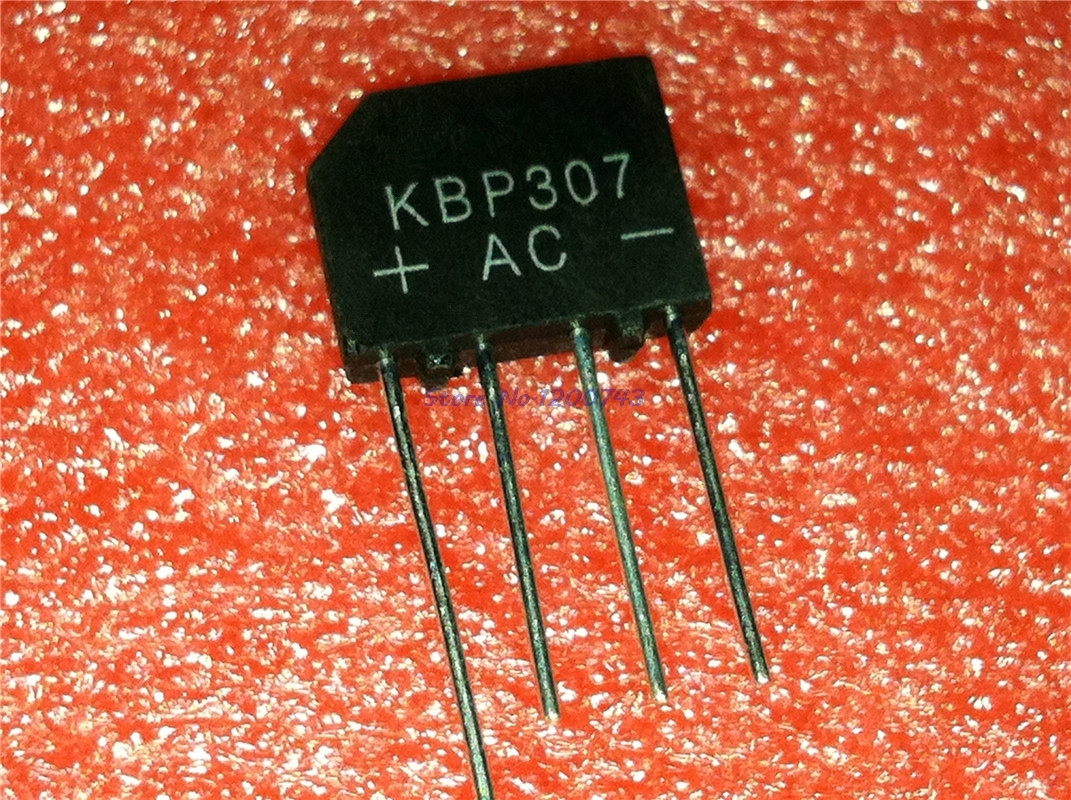 10pcs/lot KBP307 KBP 307 3A 700V Flat Bridge Bridge Rectifier In Stock