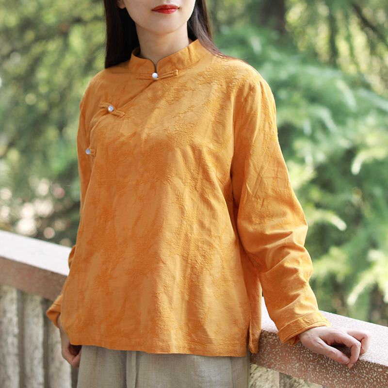 Button Female Chinese Jacquard
