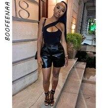 BOOFEENAA-Body Sexy con un hombro al descubierto para mujer, ropa de discoteca, Tops ajustados, Body ajustado, FemininoC85-AG10, verano, 2021