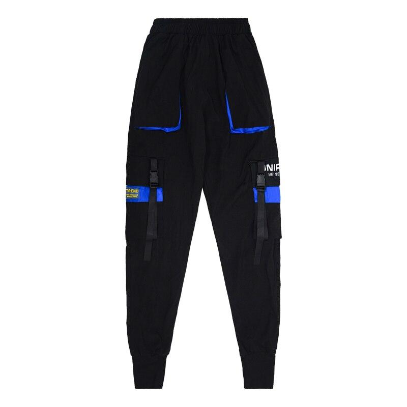 Hip Hop Ribbons Cargo Pants Men Joggers Pants Streetwear Men 2020 New Fashion Mens Casual Elastic Waist  Trousers Sweatpants