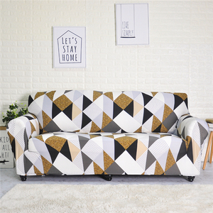 Image 2 - Stretch Sofa Covers Meubels Protector Polyester Loveseat Couch Cover L 1/2/3/4 Zits Arm Stoel Cover voor Woonkamer
