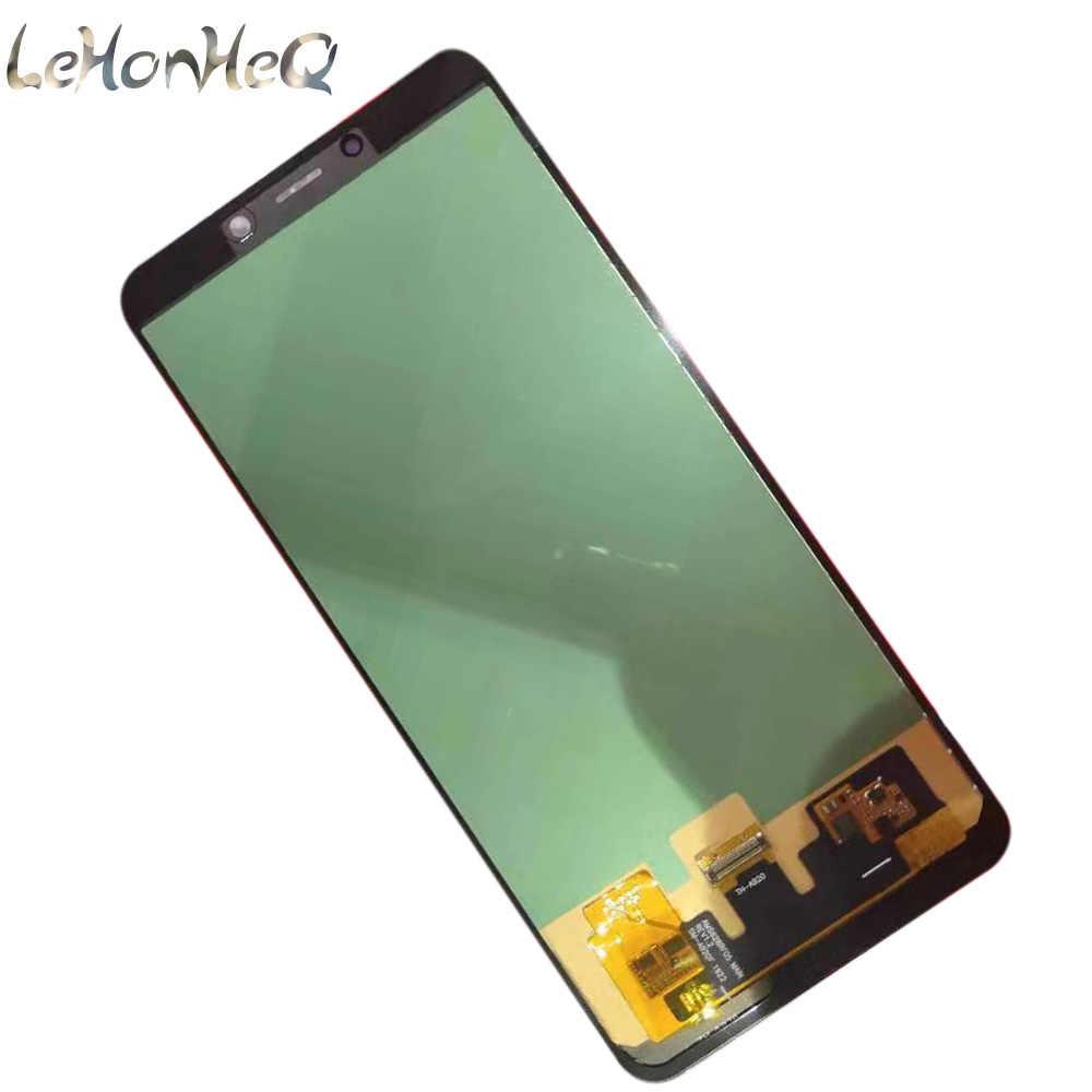 ل samsung galaxy A9 2018 A920 شاشة الكريستال السائل مجموعة المحولات الرقمية لشاشة تعمل بلمس ل samsung A9 2018 A920F A920FD استبدال LCD
