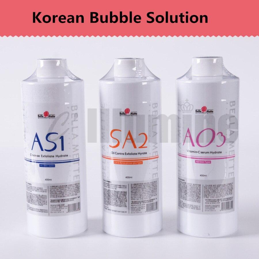 Ensemble sud petite bulle Solution équipement de gestion eau oxygène Essence propre noir eau AS1 + SA2 + AO3 400 ml/bouteille