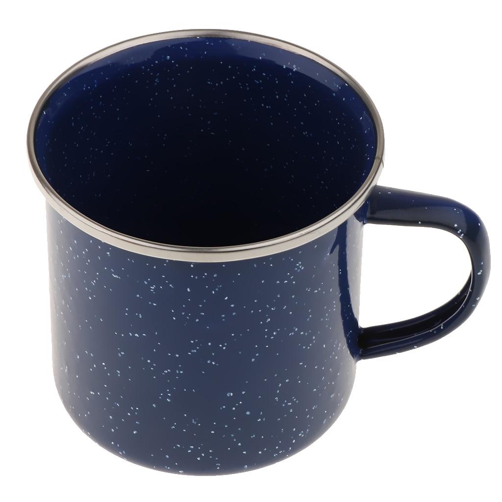 Camping 8 cm Enamel Mug Cup Enamelware Tea Coffee Mug Retro Vintage Picnic