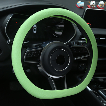 Hot Designer Anti-Slip Universal Car Accessory Heat Resistance High Elastic Non Slip 13 14 15 inch Silicone Steering Wheel Cover image