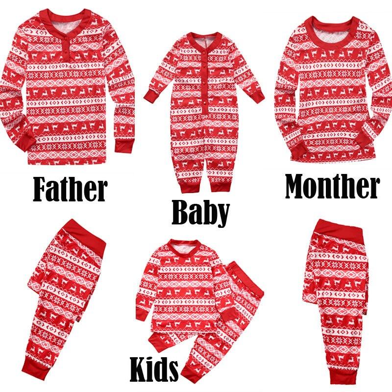 Family Matching Christmas-Pajamas-Set Xmas Party Baby Outfits Sleepwear New Kid Dad Mum
