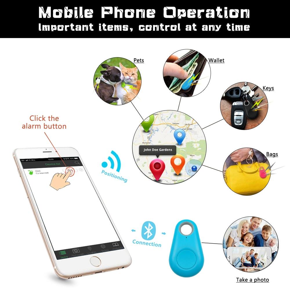 Pet Smart GPS Tracker Mini Anti-Lost Waterproof Bluetooth Locator Tracer For Pet Dog Cat Kids Car Wallet Key Collar Accessories 3