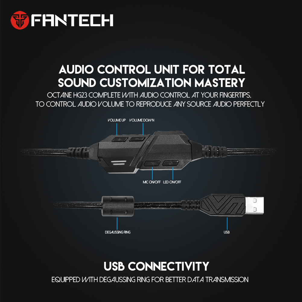 Fantech HG23 OCTANE 7.1 Gaming Headset 11