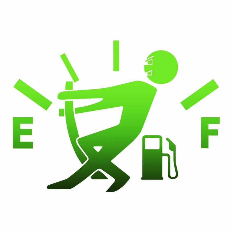 Wavehands alto consumo de gás decalque combustível gage vazio adesivo no carro engraçado adesivo e decalque vinil 3d estilo do carro 15*11cm