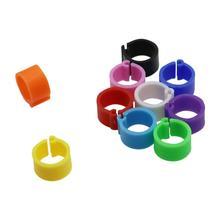 100 шт 10 цветов кольца для ног птицы внутренний диаметр 8 мм ширина 7 мм пластиковый зажим кольцо голубь перепелиное кольцо для ног ферма переноска животных