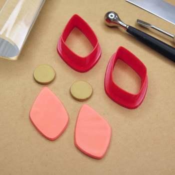 Diamentowe plastikowe foremki do ciastek foremki do ciasteczek i herbatników trzpień sprężynowy przyrząd do pieczenia gliniany nóż polimerowy gliniane frezy do biżuterii tanie i dobre opinie qubiclife