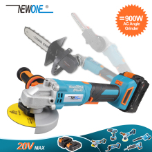 Cut-Off-Tool Angle-Grinder 3-Position Li-Ion-Battery Newone 20v Brushless Auxiliary-Handle