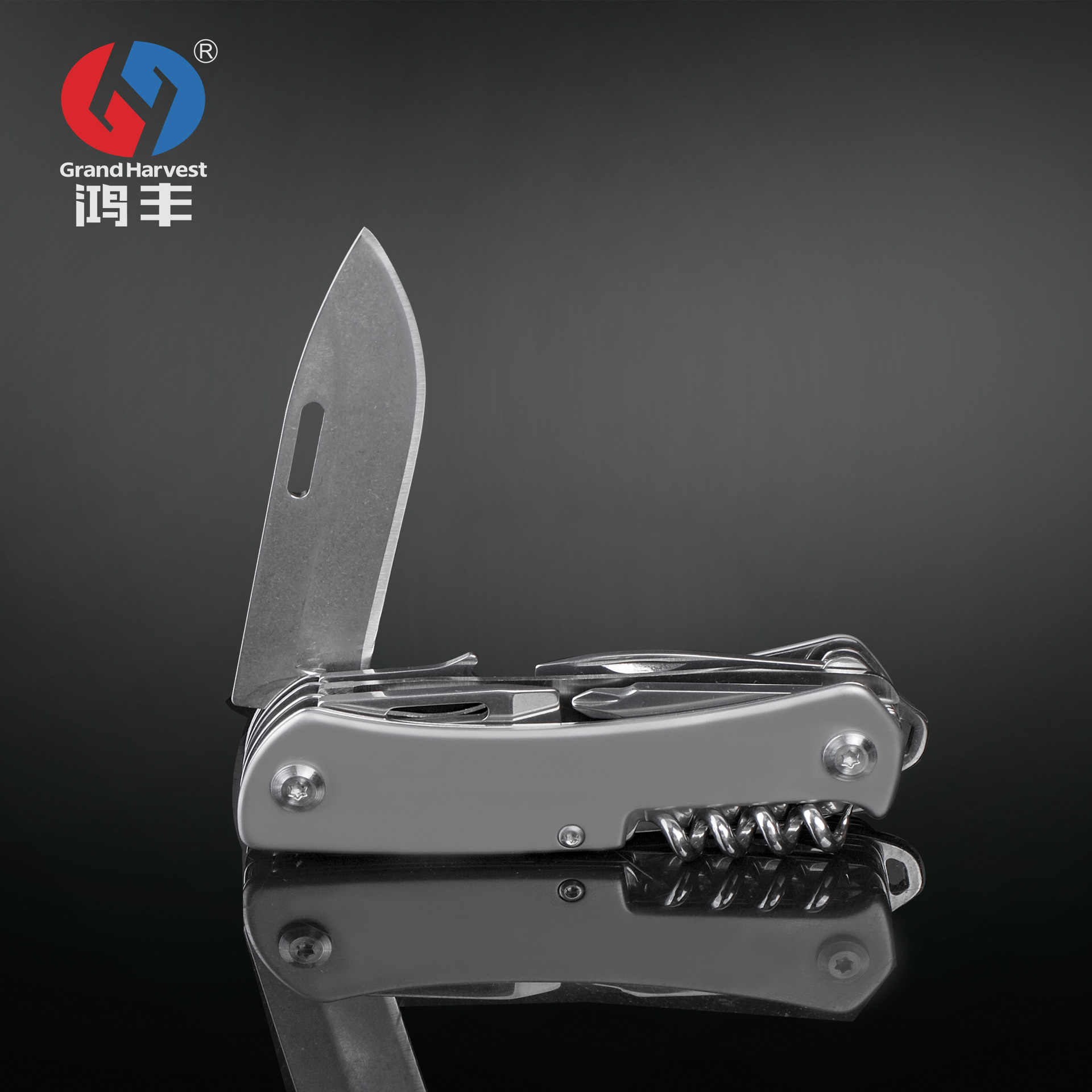 9 in 1 Multitool Tactical Swis Army Knife Outdoor Survival Folding Blade Knife Multi Tools EDC Gear 440 Stainless Steel