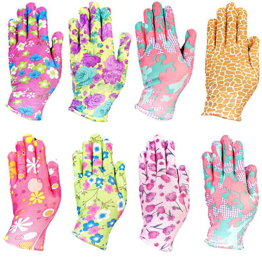 Heavy Duty Working Gloves Nylon Printed PU Coated Gardening Gloves Anti-slip Anti-static Gloves For Industrial, Repair, Chemical