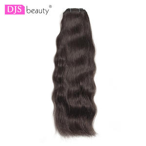 Djsbeauty Bundles Virgin-Hair Raw Indian 100%Human-Hair-Extension Straight Natural-Color