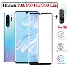 3D Tempered Glass For Huawei P30 Pro Lite Black Color Film p30 pro Full Cover Screen Protector