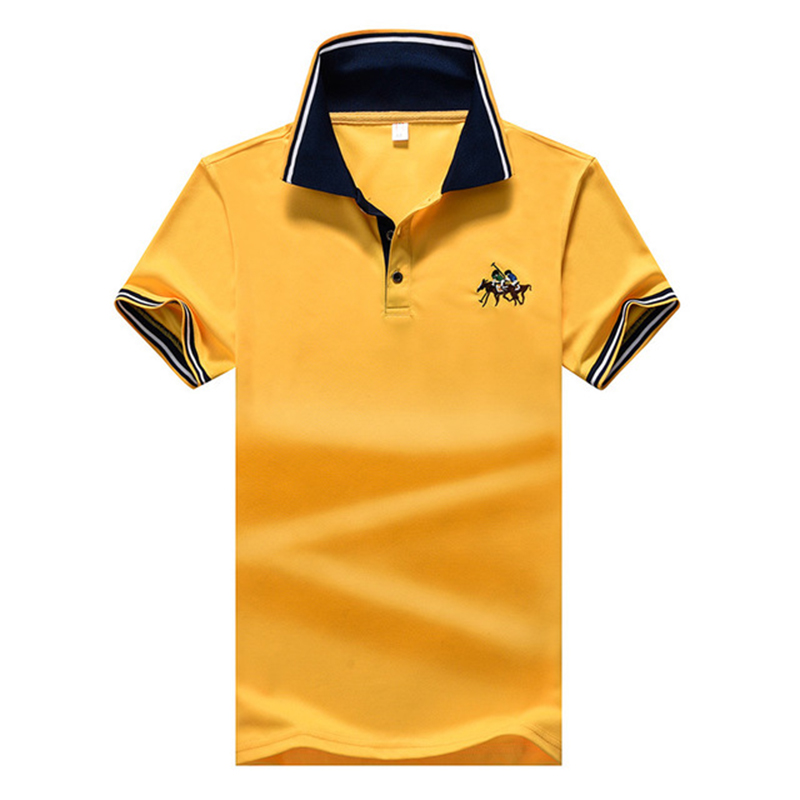2020 Summer Short Sleeve   Polo   Shirt Men Casual & Business Brand Embroidery   Polos   Shirts Men's Plus Size Breathable Top