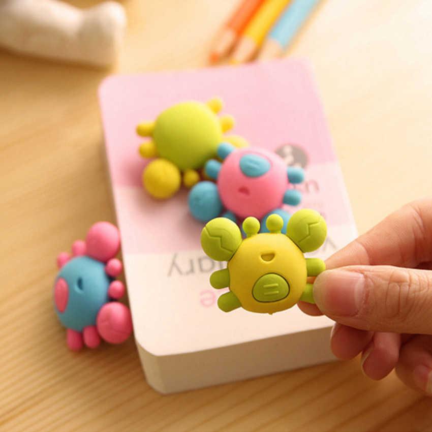1 unidades/pacote bonito caranguejo design borracha borracha escritório escola crianças prêmio escrita desenho papelaria atacado papelaria bonita