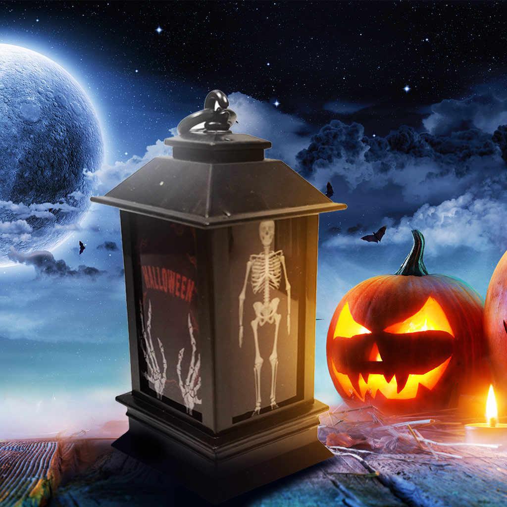Tradizionale icone designe celebrare la festa di Halloween Atmosfera Puntelli Decorativi di Plastica Incandescente di Notte Faro
