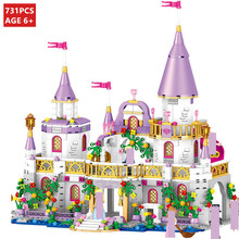 731Pcs City Romantic Castle Princess Building Blocks Sets Friends Brinquedos DIY Kit Kids Bricks Educational Toys for Children new sluban building bricks 815pcs blocks princess cinderella sapphire castle compatible friends education diy kit gift toys girl