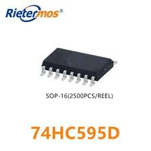 2500 Uds 74HC595D 74HC595 SOP16 hecho en CHINA