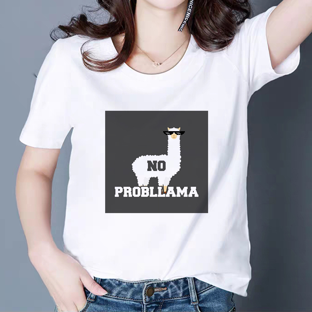 Punk Hip Hop Alpaca Harajuku All-size Summer T Shirt  Streetwear T-shirts Cheap Ropa Mujer Fashion Daily Cool Casual Tshirt